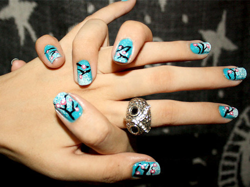 Fashion-ille-nail-design-nail-polish-nails-owl-favim.com-45362_large