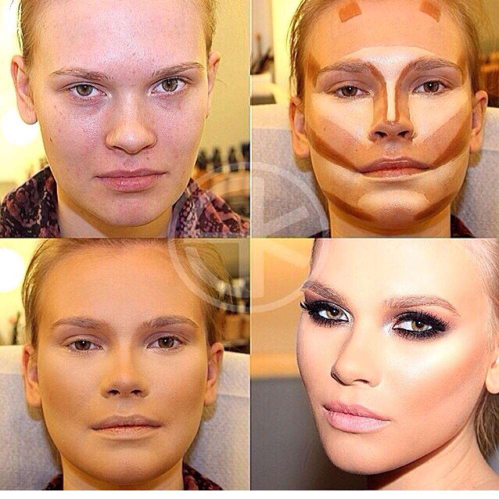 Как сделать на фото лицо уже