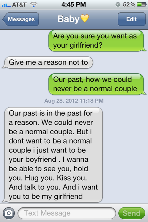 cute, couple and text image on We Heart It