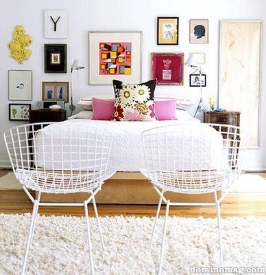 Bedroom_white+bertoia+chairs+pink+yellow+black+wood+floors+wall+art+grouping_domino+mag_large