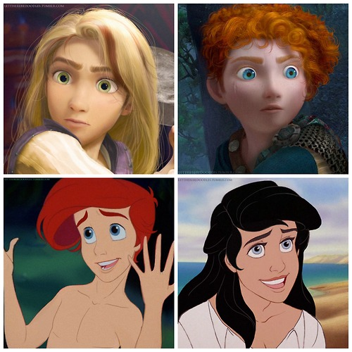 The Little Prince Uploaded By Vytaa On We Heart It: Genderbent Tangled, Brave, And The Little Mermaid.