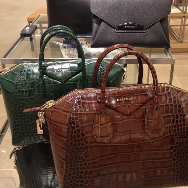 Женская сумка Givenchy с блестками, цвет коричневый
