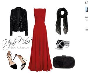 hijab fashion red dress