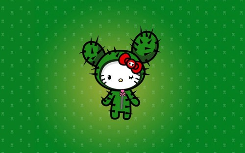Tokidoki Hello Kitty Cactus Wallpaper