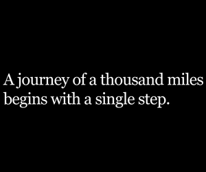 quote travel journey step