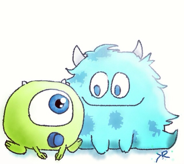 How To Draw Mike Wazowski And Sully Baby Mike & Sul...