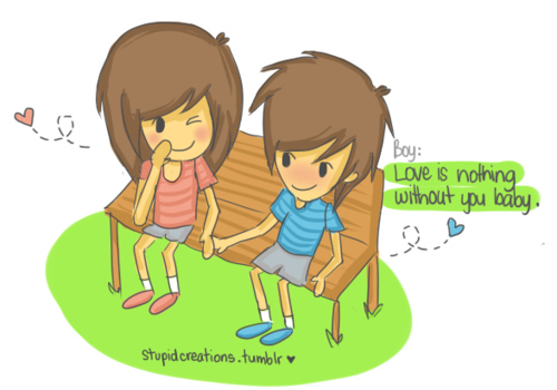 cute cartoon images of love. art, cartoon, couple, cute, love, typography - inspiring picture on Favim.