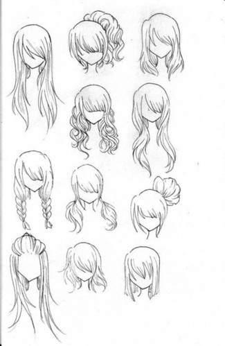 art, drawing, drawings, fashion, hair, hairstyle - inspiring picture on Favim.com
