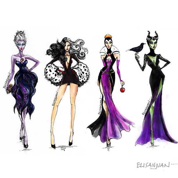 Disney villains fashion we heart it maleficent ursula for High fashion meaning