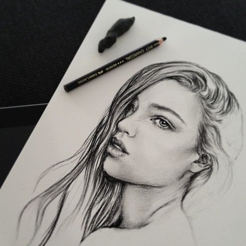 This drawing is awesome we heart it drawing art and draw for Awesome face drawing