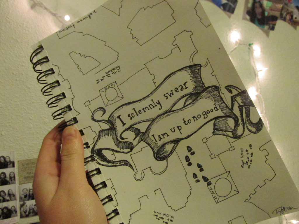 the making of the marauders map by viria13 on DeviantArt |Marauders Map Drawing