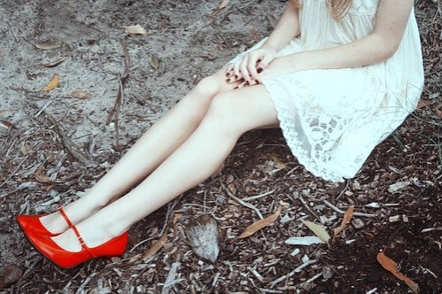 dress, girl, legs, photography, red shoes, shoes - inspiring picture on Favim.com