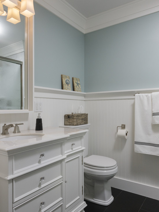 Classic Touches For Beach Style Bathroom Of Burch