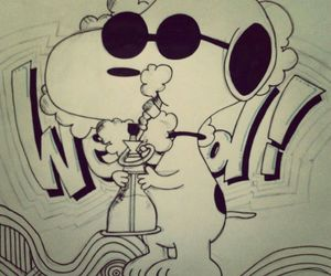 weed snoopy draw