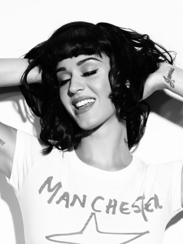 katy perry black and white picture