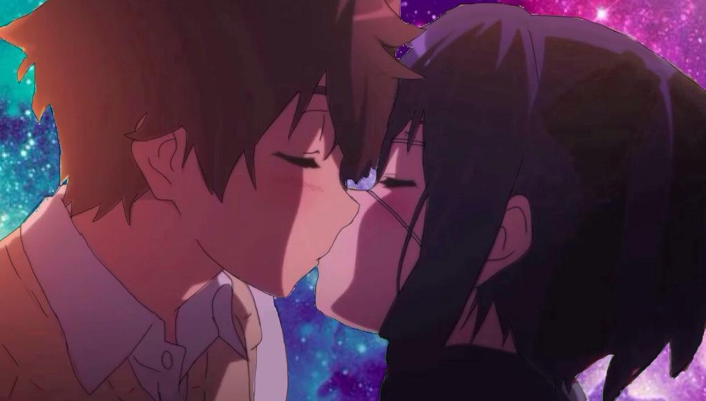 anime couple hug gif