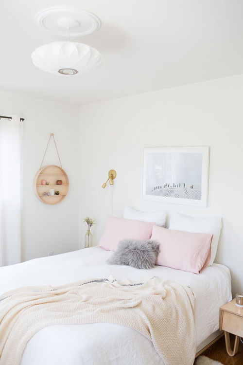 D coration bedroom chambre white blanc lov it we for Chambre we heart it