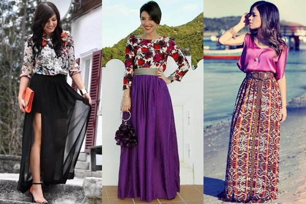 Maxi Skirt Formal Occasion Fall Winter 2013 Street Style