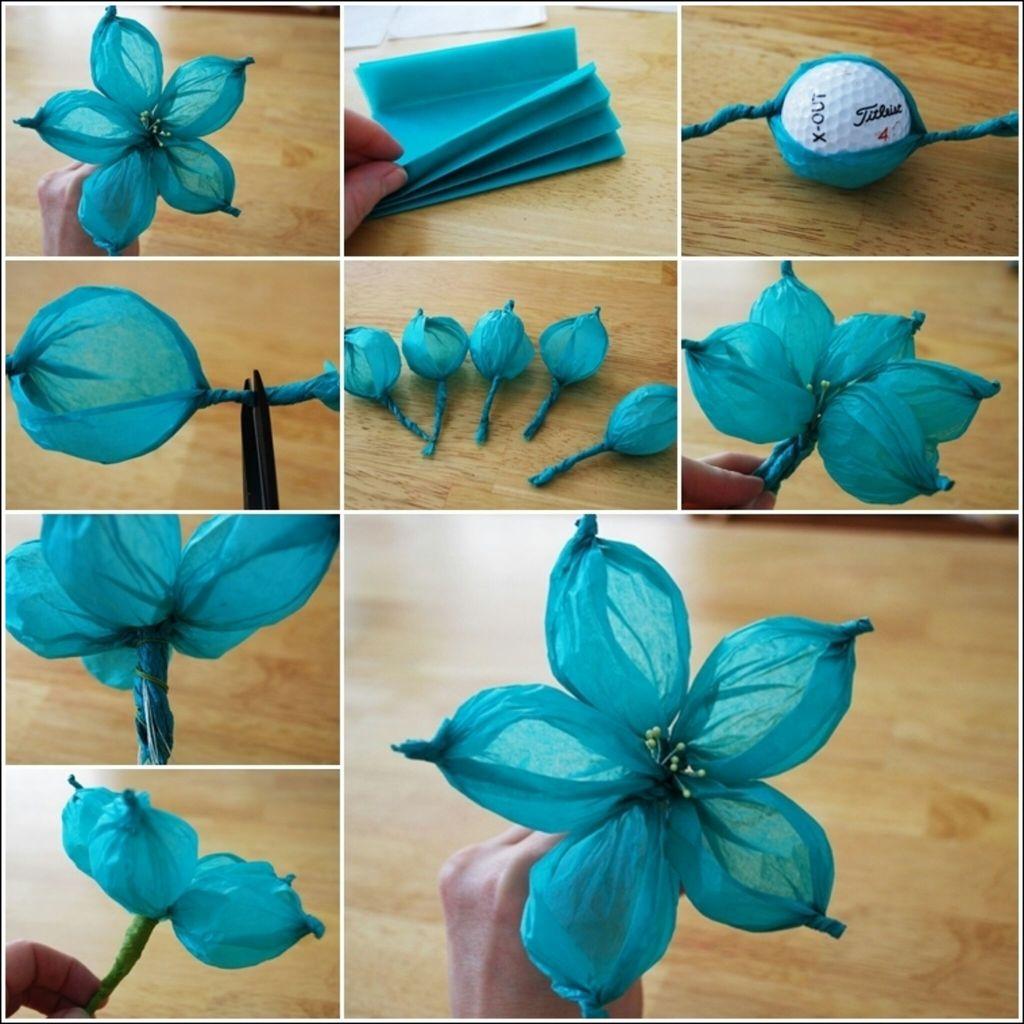Как сделать объемные цветочки из гофрированной бумаги