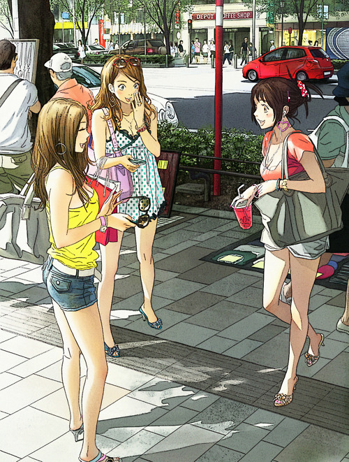 Tokyo street view anime style