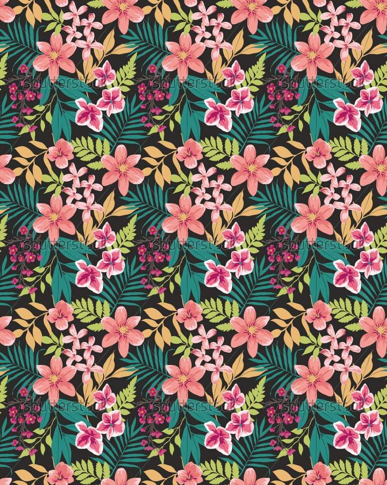 Tropical Floral Pattern Tumblr