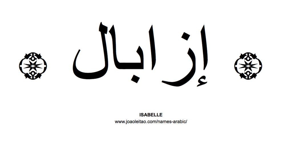 Isabelle In Arabic Name Isabelle Arabic Script How To