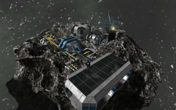 space engineers how to drag build