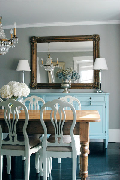 Huge Dining Room Table on Sunkissed In The Springtime  Simple  Clean  Chic