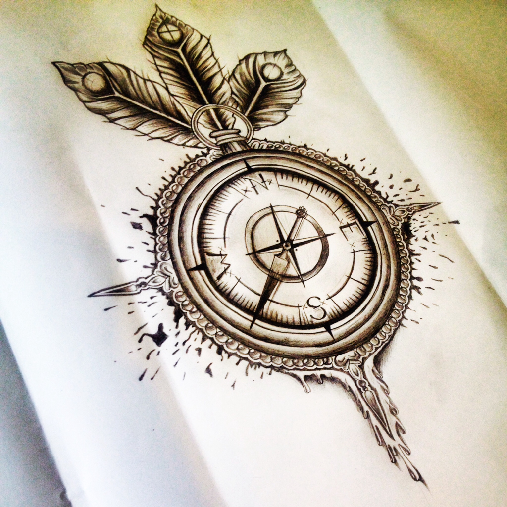 Compass Tattoo We Heart It Design And Drawing