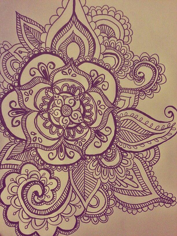Mandala morada😍😍😍😍😍😍 | We Heart It | mandala, art, and draw
