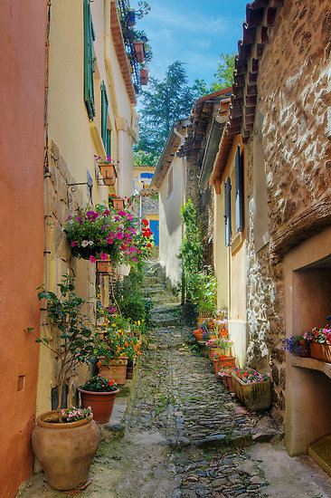Work.3167176.3.flat,550x550,075,f.a-narrow-street-in-provence-village_large