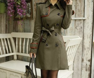 TRENCH COAT PU DOUBLE BREASTED CLEARANCE ghl0054