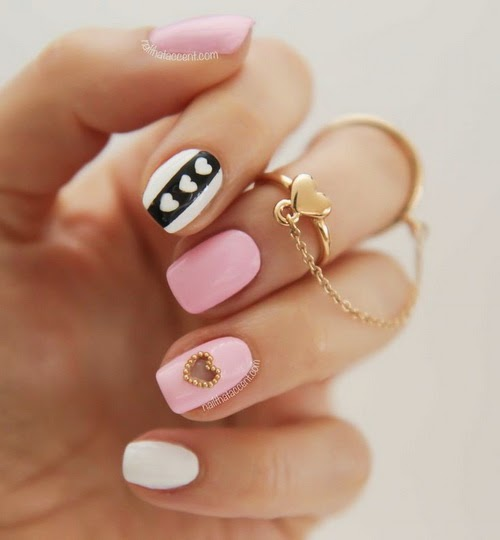 Nails Designs Black And White