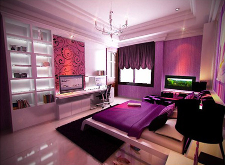 Purple Bedroom Ideas on How To Decorate Soothing Bedroom With Purple Bedroom Ideas   Pictures