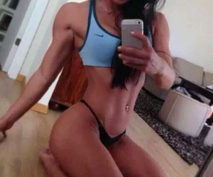 fitness squat sexy girl