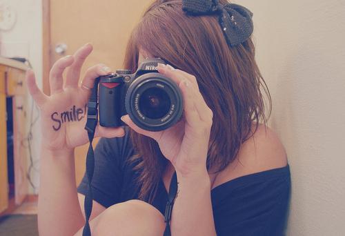 Preto arco-morena-câmera-girl-fotografia-favim.com-102858_large