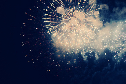firework, night, photography, pretty, sky - inspiring picture on Favim.com