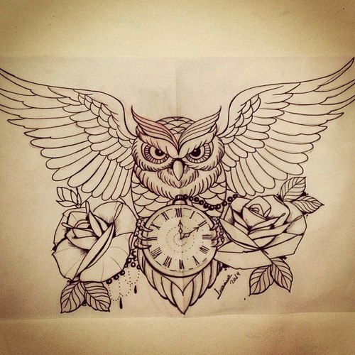 Awesome owl drawing by aura whi for Cool drawings of owls