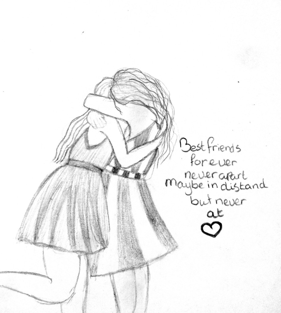 For my best friend she 39 s going away love cute and quote for Best friend drawings ideas