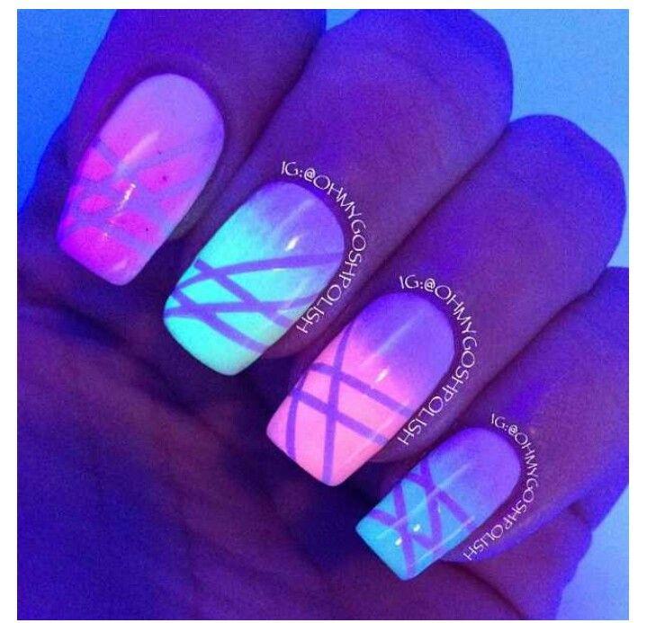 Дизайн ногтей неоновыми лаками