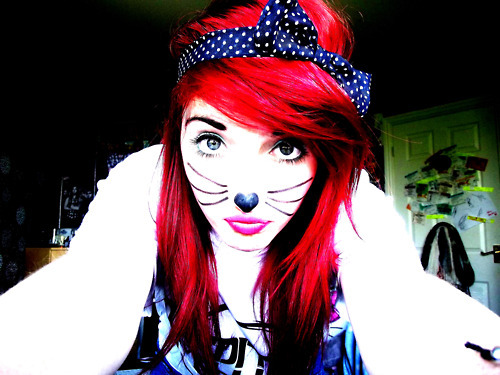 casually acting like a cat.. and my mouth looks...   stay br00t4l;♥
