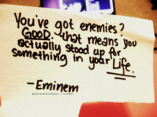 eminem, good, life, quote, text - inspiring picture on Favim.com