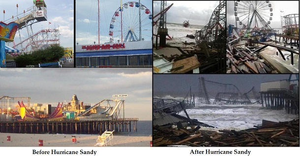 Hurricane Sandy Before And After Sandy Before And After