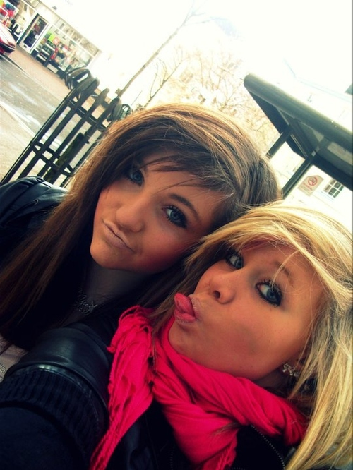 attention whores, beautiful, blonde, blue, blue eyes, brunette - inspiring picture on Favim.com