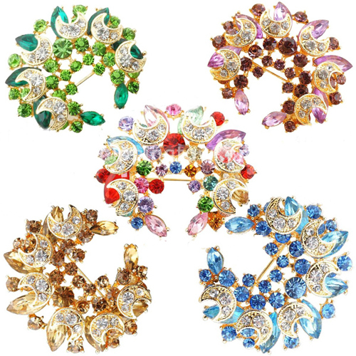 Crystal retro brooch,Lady brooch [STW-LT002] - US$26.81 : ShippingToWorld.Com