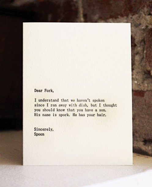 Dear Fork « Stardust and Sequins