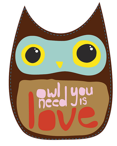 Owl you need is love / Imagens Fofas para Tumblr, We Heart it, etc