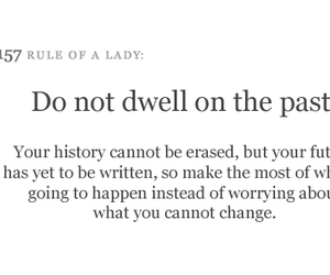 rules of a lady