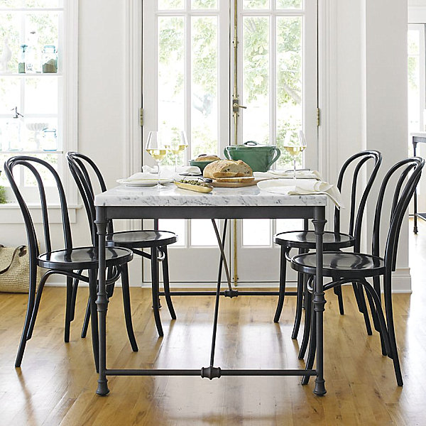 Metal Dining Chairs Wood Table wood table with metal chairs | winda 7 furniture