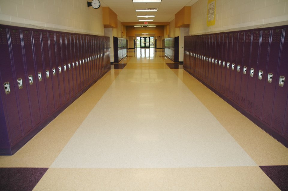 School Hallway With Lockers We Heart It Building And